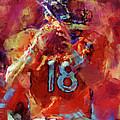 Peyton Manning Abstract 3 by David G Paul