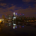 Philadelphia From South Street At Night by Bill Cannon