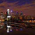 Philadelphia On The Schuylkill At Night by Bill Cannon