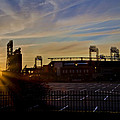 Phillies Citizens Bank Park At Dawn by Bill Cannon