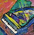 Piano Blue by Anita Burgermeister