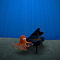 Piano Playing Octopus Print by Gianfranco Weiss