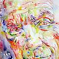 Picasso Pablo Watercolor Portrait.2 by Fabrizio Cassetta