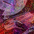 Pickin And A Grinnin Digital Banjo And Guitar Art By Steven Langston by Steven Lebron Langston