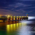Pier At Night by Carlos Caetano