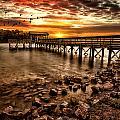 Pier At Smith Mountain Lake by Joshua Minso