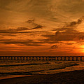 Pier At Sunset by Sandy Keeton