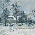 Piettes House At Montfoucault by Camille Pissarro