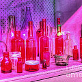 Pink And Red Bottles by Kaye Menner
