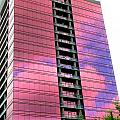 Pink Glass Buildings Can Be Pretty by Randall Weidner