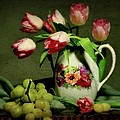 Pink In A Pitcher by Diana Angstadt