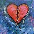 Pink Mended Broken Heart by Carol Suzanne Niebuhr