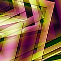 Pink Yellow And Green Geometry by Mario Perez