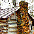 Pioneer Log Cabin Chimney by Kathy  White