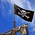 Pirate Flag On Ships Mast by Garry Gay