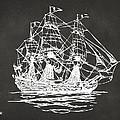 Pirate Ship Artwork - Gray by Nikki Marie Smith