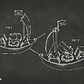 Pirate Ship Patent Artwork - Gray by Nikki Marie Smith