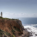 Point Vicente Lighthouse In Winter Print by Heidi Smith