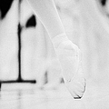 Pointed Toe In Ballet Slippers At A Ballet School In The Uk by Joe Fox