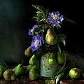 Poires Et Fleurs by Theresa Tahara