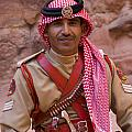 Policeman In Petra Jordan by David Smith