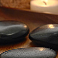 Polished Stones In A Spa by Olivier Le Queinec