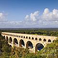 Pont Du Gard Roman Aqueduct Languedoc Roussillon France by Colin and Linda McKie
