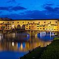 Ponte Vecchio Reflection by Inge Johnsson