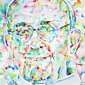 Pope Francis Watercolor Portrait by Fabrizio Cassetta