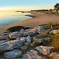 Popham Beach At Dawn by Jim Block