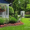 Porch And Garden by Elena Elisseeva