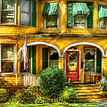 Porch - Cranford Nj - A Yellow Classic  by Mike Savad