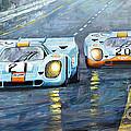 Porsche 917 K GULF Spa Francorchamps 1970 Print by Yuriy  Shevchuk