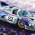 Porsche 917 LH Larrousse Elford 24 Le Mans 1971 Print by Yuriy  Shevchuk