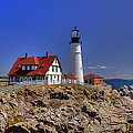 Portland Head Light 3 Print by Joann Vitali