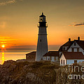 Portland Head Light At Sunrise II by Clarence Holmes