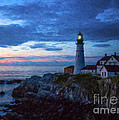 Portland Head Lighthouse Print by Diane Diederich