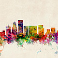Portland Oregon Skyline Print by Michael Tompsett
