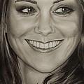 Portrait Kate Middleton detail by Natalya Aliyeva