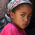 Portrait Of A Berber Girl by Ralph A  Ledergerber-Photography