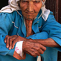 Portrait Of A Berber Woman by Ralph A  Ledergerber-Photography