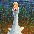 Portrait Of A Goose by James W Johnson