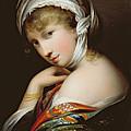 Portrait Of A Lady In Eastern Dress by English School