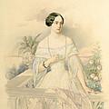Portrait of Grand Duchess Olga Nikolaevna Print by Vladimir Ivanovich Hau