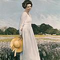 Portrait of Mrs Lyndon B Johnson Print by Mountain Dreams