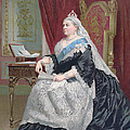 Portrait Of Queen Victoria by English School