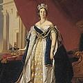 Portrait Of Queen Victoria In Coronation Robes by Franz Xaver Winterhalter