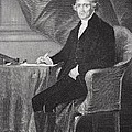 Portrait of Thomas Jefferson Print by Alonzo Chappel