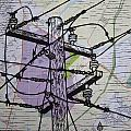 Power Lines On Map by William Cauthern