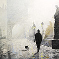 Prague Charles Bridge Morning Walk 01 by Yuriy Shevchuk